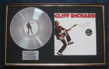 Cliff Richard - Platinum Disc And LP Cover - Rock 'n' Roll Juvenile